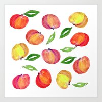 peaches for scarlett Art Print