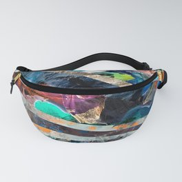 Triangle Forest Abstract Rainbow Fanny Pack