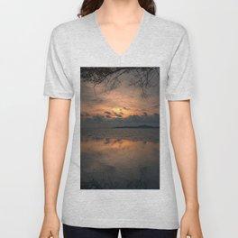 Sunset on the Gulf of Thailand Unisex V-Neck