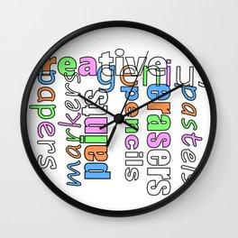 Creative Genius - Font Art Wall Clock