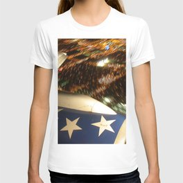 Airliner Wing at Night T-shirt