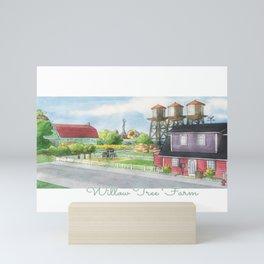 Willow Tree Farm - Watercolor Village Mini Art Print