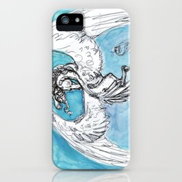 Winged Horse in Watercolor iPhone Case