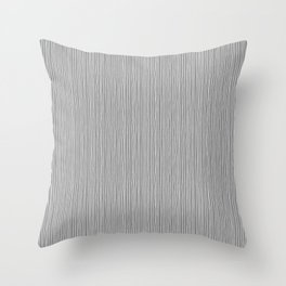 Platinum Lines Never Fail - Dark Gray Throw Pillow
