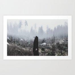 Raven Bride  Art Print