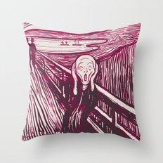 The Scream's Haze (pink) Throw Pillow