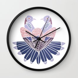 Two Turtle Doves Wall Clock