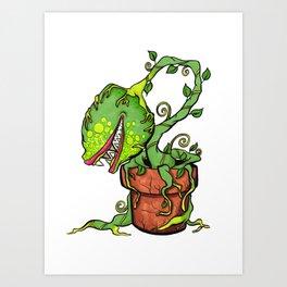 Killer Plant Venus Fly Trap Art Print