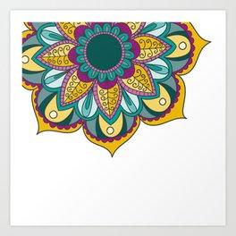 Mandala Series - Sunflower Art Print