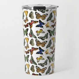 Vintage Butterflies | Butterfly Pattern | Multi-colored | Travel Mug