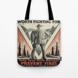 Vintage poster - Worth Fighting For Tote Bag