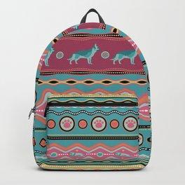 German Shepherd Decorative Pattern in pastels Backpack