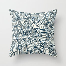 car doodle 2 Throw Pillow