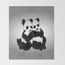 Panda Bears Throw Blanket
