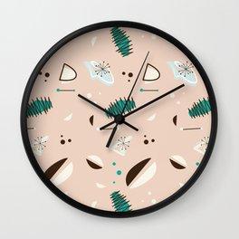 Atomic Peach Wall Clock