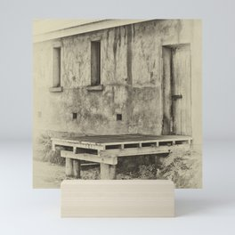 Antique plate style old loading dock Mini Art Print