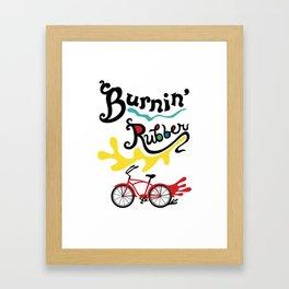 Burning Rubber bike Framed Art Print