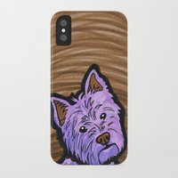 westie iPhone & iPod Cases featuring Purple Westie by Gianna Brucato