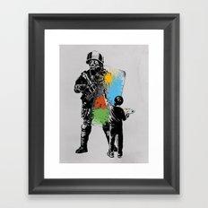 Turmoil Paint Framed Art Print