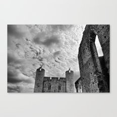 Caerphilly Castle Wales 4 Canvas Print