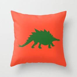 Simplesaurs: Steg Throw Pillow