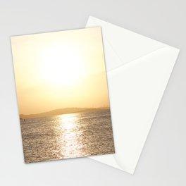Sunset over Western Harbour Leith Edinburgh Stationery Cards