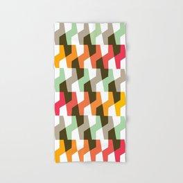 Geometric Pattern #56 (mint orange red) Hand & Bath Towel