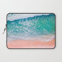 Pink Sands Turquoise Water Caribbean Dream Laptop Sleeve