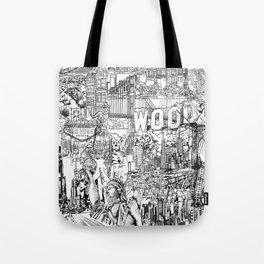 urban collage Tote Bag