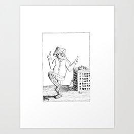 Dancing at Dusk Art Print