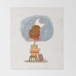 Nothing is out of reach Throw Blanket