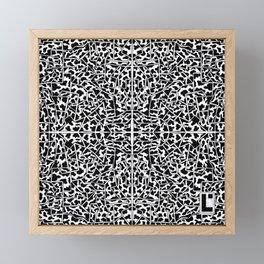 Angular cow Framed Mini Art Print