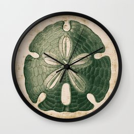 The Big Green Sand Dollar Wall Clock