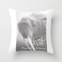 rock and roll Throw Pillows featuring rock&roll by Necla Karahalil