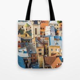 Colors of city Tote Bag