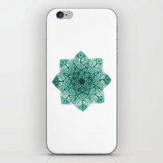 Emerald Mandala iPhone & iPod Skin