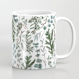 Pine and Eucalyptus Greenery Coffee Mug