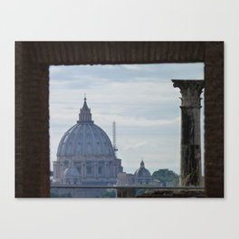 Saint Peter's Basilica framed by Domus Augustea Canvas Print