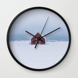 Snowfall - Landscape and Nature Photography Wall Clock