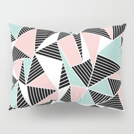 AbLines with Blush Mint Blocks Pillow Sham