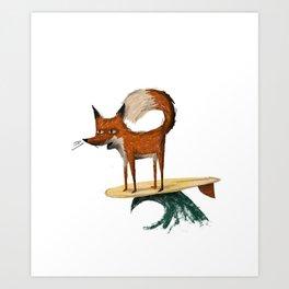 Surf Fox Art Print