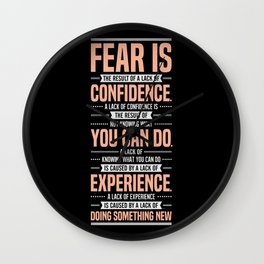 Lab No. 4 Fear Is The Result Dale Carnegie Inspirational Quotes Wall Clock