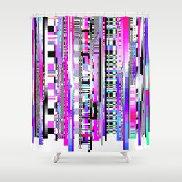 Glitch Ver.3 Shower Curtain