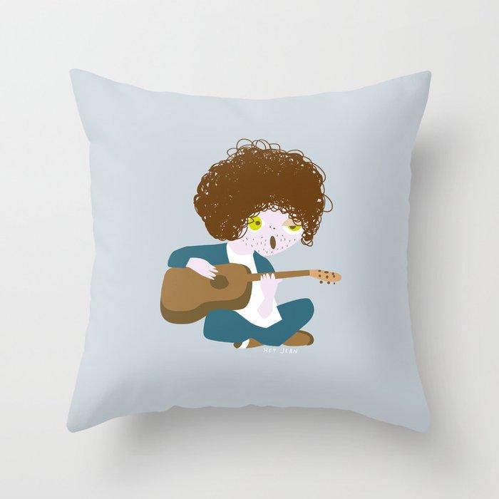 Curly Bob Throw Pillow