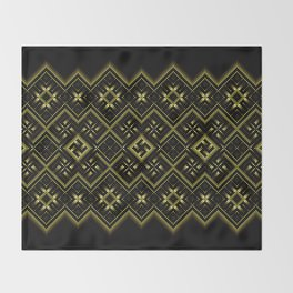 Solar signs. Ancient ornament. Sacred geometry Throw Blanket