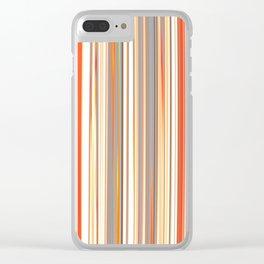 STRATA classic stripes pattern in classic earth tones of tan beige orange cream Clear iPhone Case