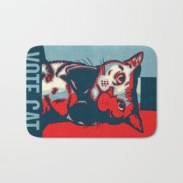 Vote Cat Bath Mat