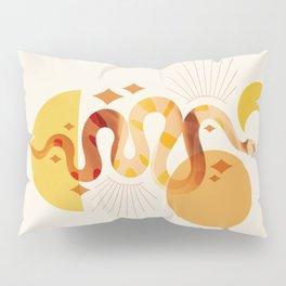 Abbstraction_SNAKE_SUN_MOON_POP_ART_Minimalism_001D Pillow Sham