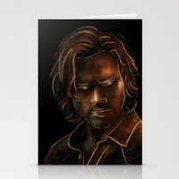 sam winchester Stationery Cards featuring Sam Winchester by Sarah Sangelus