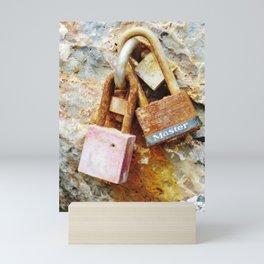 Rusty locks Mini Art Print